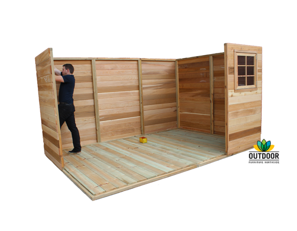 Cedar Shed Installation