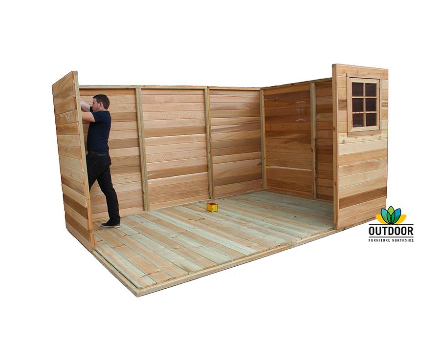 Cedar Shed Installation