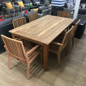 7 Piece Teak Dining Setting