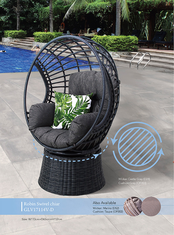 Robin Swivel Egg Chair Outdoor Furniture Northside