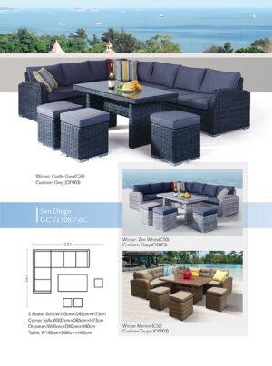 San Diego 6 Piece Corner Lounge