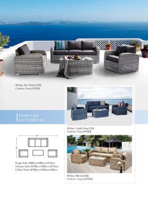 Miami 4 Piece Lounge Setting