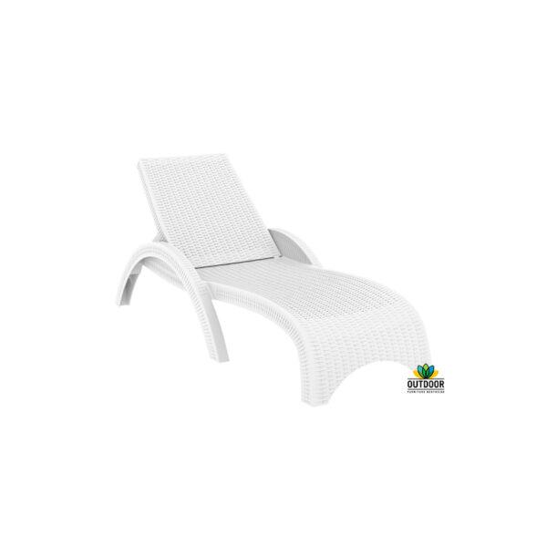 Fiji Sun Lounger White