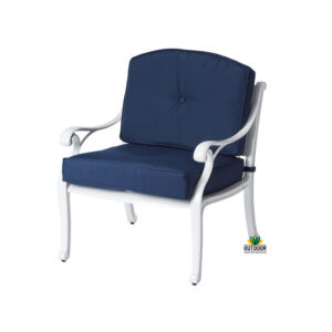 Nassau Single Lounge White Navy