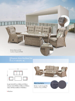 Buenos Aires Recliner Setting