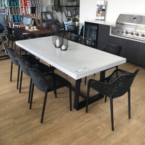 Concrete Dining Tables Light Grey