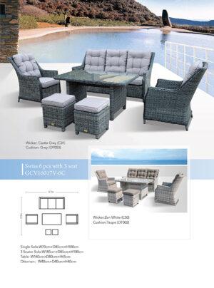 Swiss 6 Piece Lounge Setting