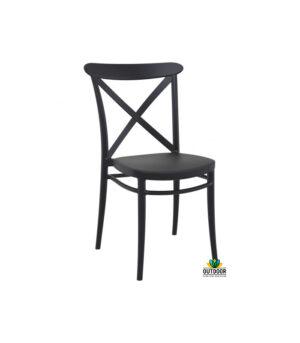 Cross Chair Black