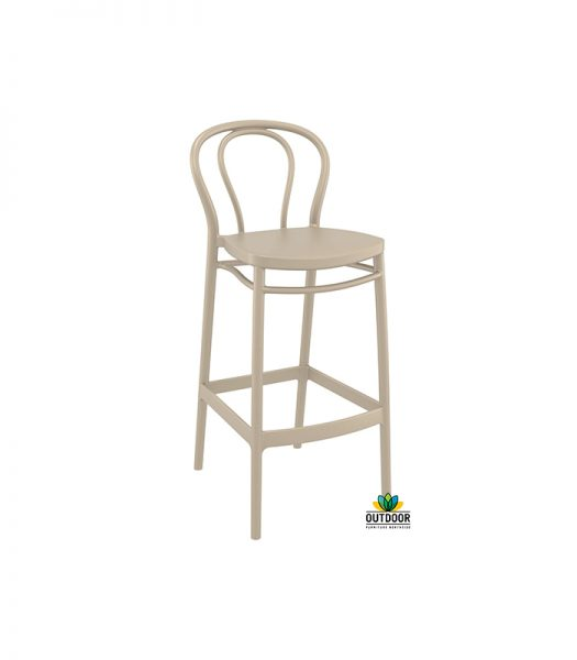 Victor Barstool Taupe