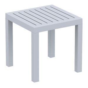 Ocean Side Table Dark Silver Grey